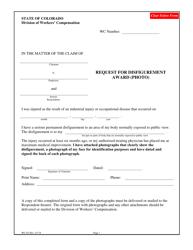 "Form WC193 ""Request for Disfigurement Award (Photo)"" - Colorado"