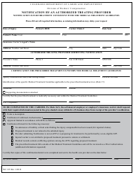Form WC 195 Notification by an Authorized Treating Provider - Colorado