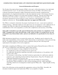 """""""Position Description Questionnaire (Pdq) Instructions"""" - Colorado"""