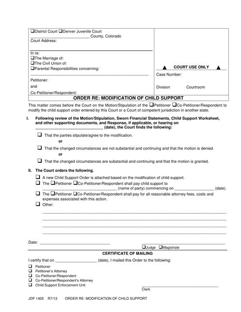 Form JDF1405  Printable Pdf