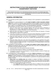 "Form JDF1700 ""Instructions to File for Grandparent or Greatgrandparent Visitation"" - Colorado"