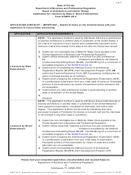 """Form Dbpr Ar8 """"Application for Licensure by State or Direct Endorsement"""" - Florida"""
