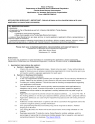 Form DBPR FSBC 01 Application for Amateur Sanctioning Organization - Florida