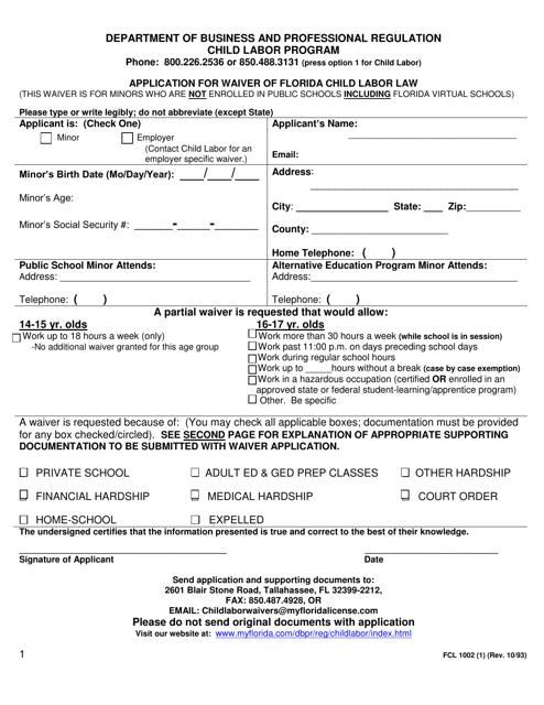 Form FCL1002 (1)  Printable Pdf