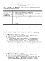 Form DBPR COSMO 1 Application for Initial License Based on Florida Education - Florida