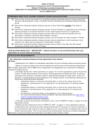 """Form DBPR ELC5 """"Application for Registration as a Deminimus Employee Leasing Company Group"""" - Florida"""