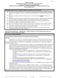 Form DBPR ELC 5 Application for Registration as a Deminimus Employee Leasing Company Group - Florida