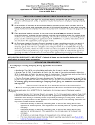 """Form Dbpr Elc3 """"Application for Licensure as an Employee Leasing Company Group"""" - Florida"""