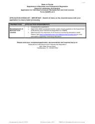 """Form Dbpr La5 """"Application for Individual Licensure: Reinstate Null and Void License"""" - Florida"""