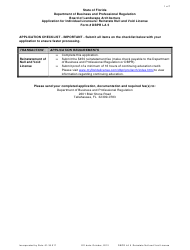 Form DBPR LA 5 Application for Individual Licensure: Reinstate Null and Void License - Florida