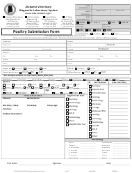 "Form CF.ACC.8.2 ""Poultry Submission Form"" - Alabama"