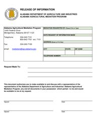 Release of Information - Alabama Agricultural Mediation Program - Alabama