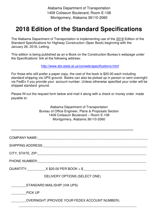 """""""Edition of the Standard Specifications"""" - Alabama Download Pdf"""