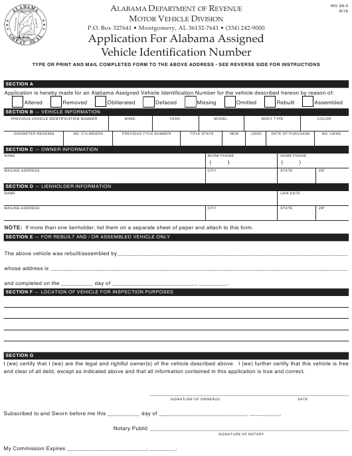 Form INV36-3  Printable Pdf
