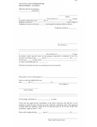 Form LD-9 Request for Cancellation (For County Use Only) - Alabama