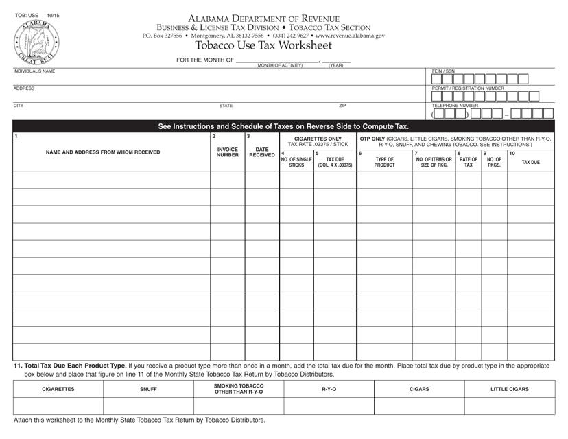 Form TOB: USE  Printable Pdf