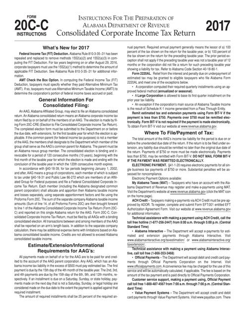 Form 20C-C 2017 Printable Pdf