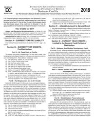 Instructions for Form Et-1 Schedule Ec - Business Credits 2018