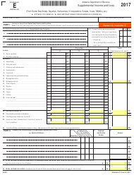 Form 40 2017 Schedule E - Supplemental Income and Loss - Alabama
