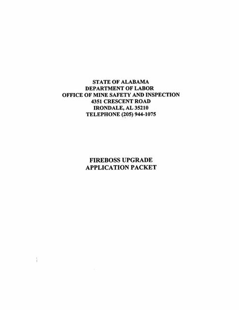 """Fireboss Upgrade Application Packet"" - Alabama Download Pdf"