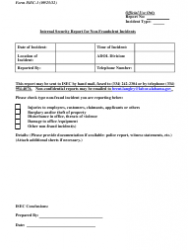 Form ISEC-1 Internal Security Report for Non-fraudulent Incident - Alabama