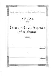 """Appeal to Court of Civil Appeals of Alabama Jacket"" - Alabama"