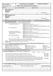 Form ARAP-24 Docketing Statement - Appeal to the Supreme Court of Alabama - Alabama