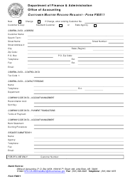 Form FI-0011 Customer Master Record Request - Arkansas