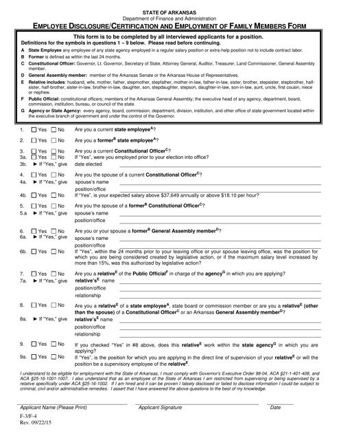 Form F-3 Printable Pdf