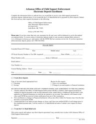 """Electronic Deposit Enrollment Form"" - Arkansas"