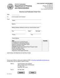 """Brochure and Publication Order Form"" - Arkansas"