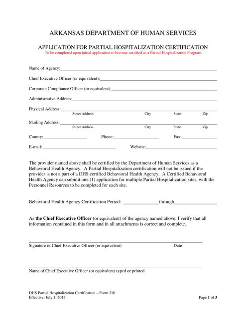 Form 310  Printable Pdf