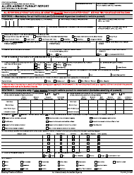 """Form CHP187A """"Allied Agency Pursuit Report"""" - California"""