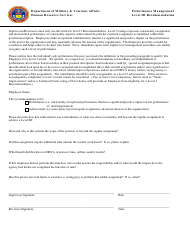 """Performance Management Level Iii Recommendation Form"" - Colorado"
