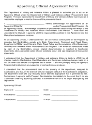 """Approving Official Agreement Form"" - Colorado"