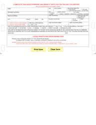 """Replacement Questionnaire"" - Colorado"
