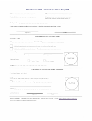 Worthless Check - Hardship License Request Form - Florida