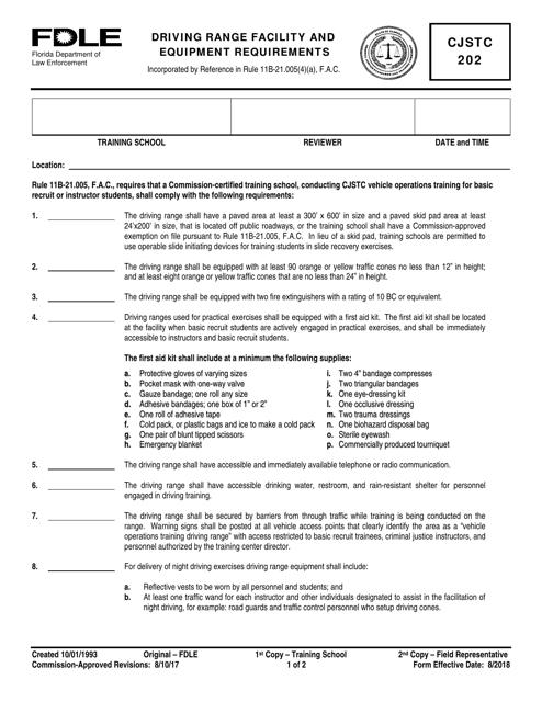 Form CJSTC202  Printable Pdf
