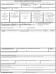 DD Form 2890 DoD Multimodal Dangerous Goods Declaration