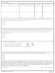 DA Form 3433-1 Supplemental Employment Application Form, Page 2