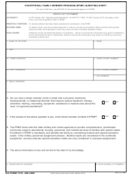 DA Form 7415 Exceptional Family Member Program (EFMP) Querying Sheet