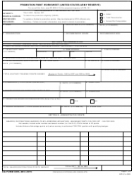 DA Form 3355 Promotion Point Worksheet (United States Army Reserve)