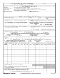 "DA Form 2339 ""Application for Voluntary Retirement"""