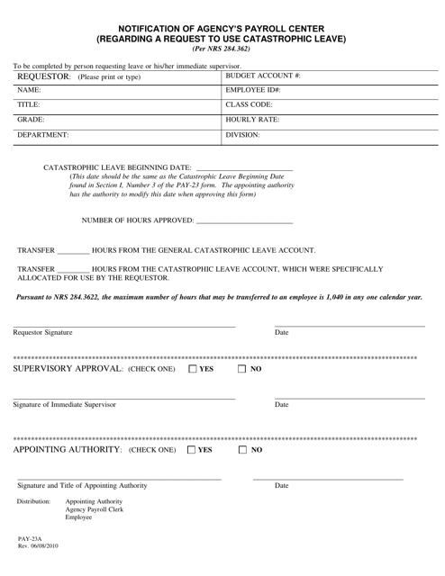 Form PAY-23A  Printable Pdf