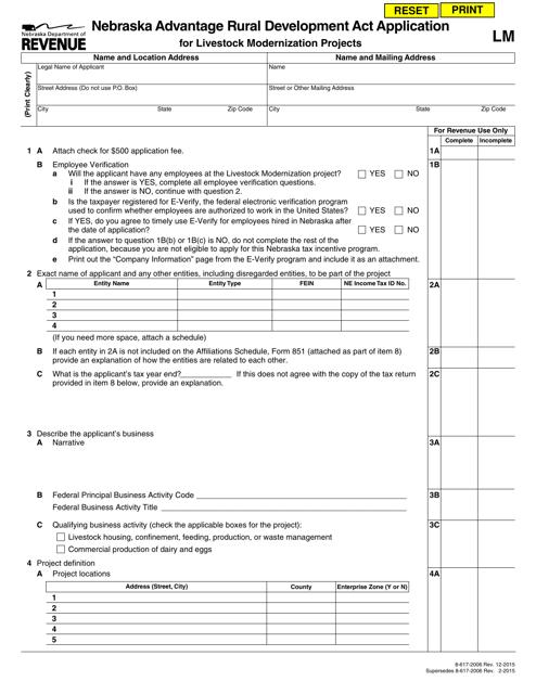 Form LM  Printable Pdf