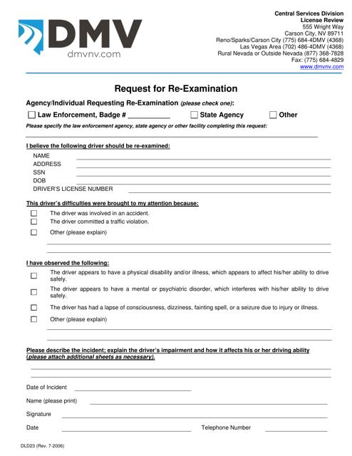 Form DLD23  Printable Pdf