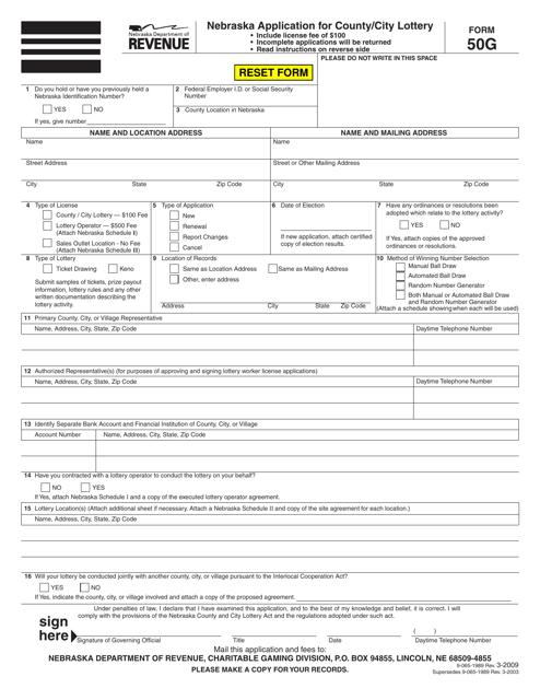 Form 50G  Printable Pdf