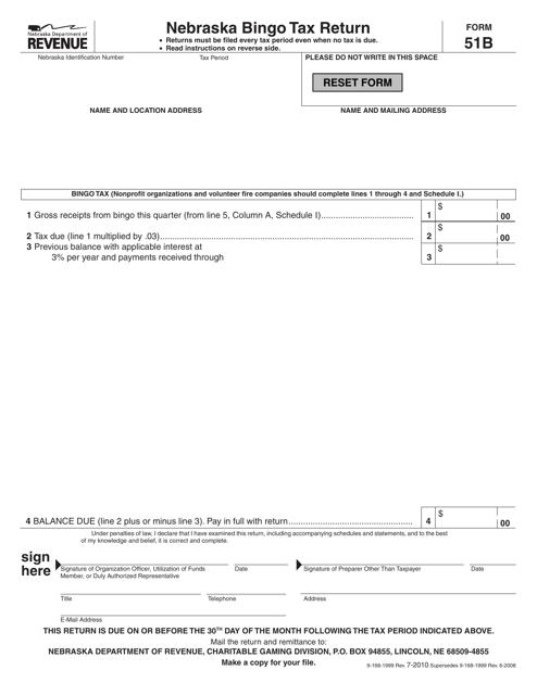 Form 51B  Printable Pdf