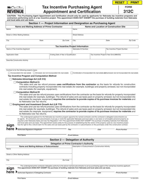 Form 312C  Printable Pdf