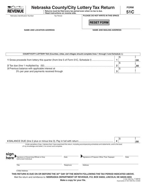 Form 51C  Printable Pdf